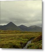 Stunning Countryside In Cuillen Hills With Large Mountains  Metal Print