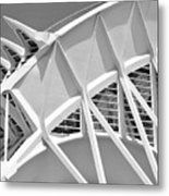 Stunning Structure - Black And White Metal Print