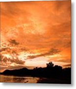 Stunning Tropical Sunset Metal Print