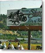 Sturgis City Of Riders Metal Print