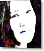 Stylized Woman's Portrait Metal Print