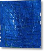 Subatomic Particles In Blue State Metal Print
