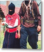 Subcommandante Marcos And Ramona Metal Print