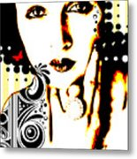 Subjected To Ink Metal Print