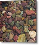 Submerged Lake Stones Metal Print