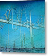 Substation Insulators Metal Print