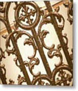 Subtle Southern Charm In Sepia Metal Print