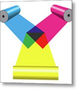 Subtractive Color Mixing With Print Cylinders Metal Print