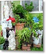 Suburban House With Front Yard Religious Shrine Hayward California 10 Metal Print