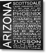 Subway Arizona State Square Metal Print