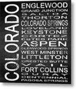Subway Colorado State 2 Square Metal Print