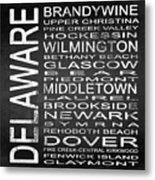 Subway Delaware State Square Metal Print