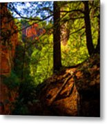 Subway Forest Metal Print