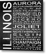 Subway Illinois State 2 Square Metal Print