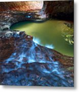 Subway In Zion National Park Utah Metal Print by Pierre Leclerc Photography