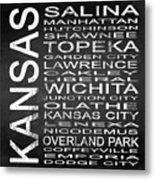 Subway Kansas State Square Metal Print