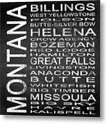Subway Montana State Square Metal Print
