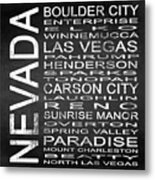 Subway Nevada State Square Metal Print