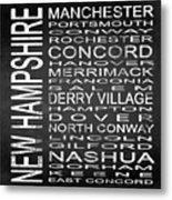 Subway New Hampshire State Square Metal Print