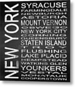 Subway New York State 2 Square Metal Print