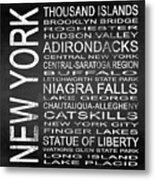 Subway New York State 4 Square Metal Print