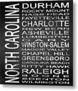 Subway North Carolina State Square Metal Print