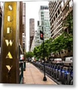 Subway Nyc Metal Print