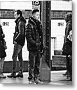 Subway Platform At 125th Street Metal Print