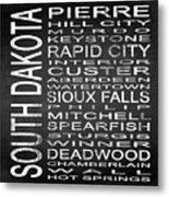 Subway South Dakota State Square Metal Print
