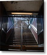Subway Stairs To Freedom Metal Print