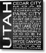 Subway Utah State Square Metal Print