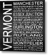 Subway Vermont State Square Metal Print