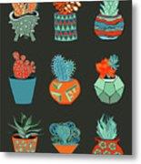Succulent Garden No. 1 Metal Print