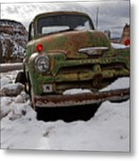 Suffering The Snow Metal Print