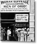 Suffrage Headquarters Metal Print