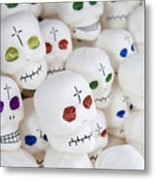 Sugar Skulls For Sale At The Day Metal Print by Krista Rossow