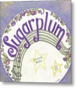 Sugarplum Logo Metal Print