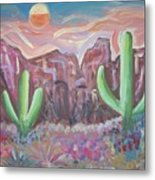 Suggestive Desert Lands Metal Print