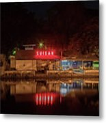 Suisan Fish Market At Night Metal Print