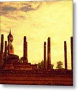 Sukothai Temple Metal Print