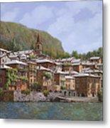 Sul Lago Di Como Metal Print by Guido Borelli