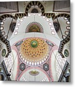 Suleymaniye Mosque Ceiling Metal Print