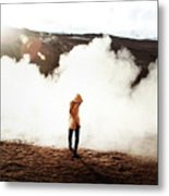 Sulfur Clouds Metal Print