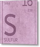 Sulfur Element Symbol Periodic Table Series 016 Metal Print