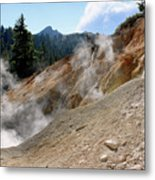 Sulfur Works In Lassen Volcanic Park Metal Print by Christine Till
