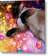 Sulley's Happy Holiday Metal Print