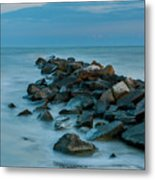 Sullivan's Island Rock Jetty Metal Print