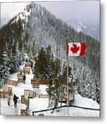 Sulphur Mountain In Banff National Park In The Canadian Rocky Mountains Metal Print