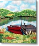 Sumer Reflections Metal Print