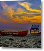 Summer Sunset In Cape May Nj Metal Print